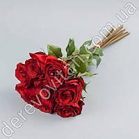 Букет красных роз искусственный, 8 шт, 38 см