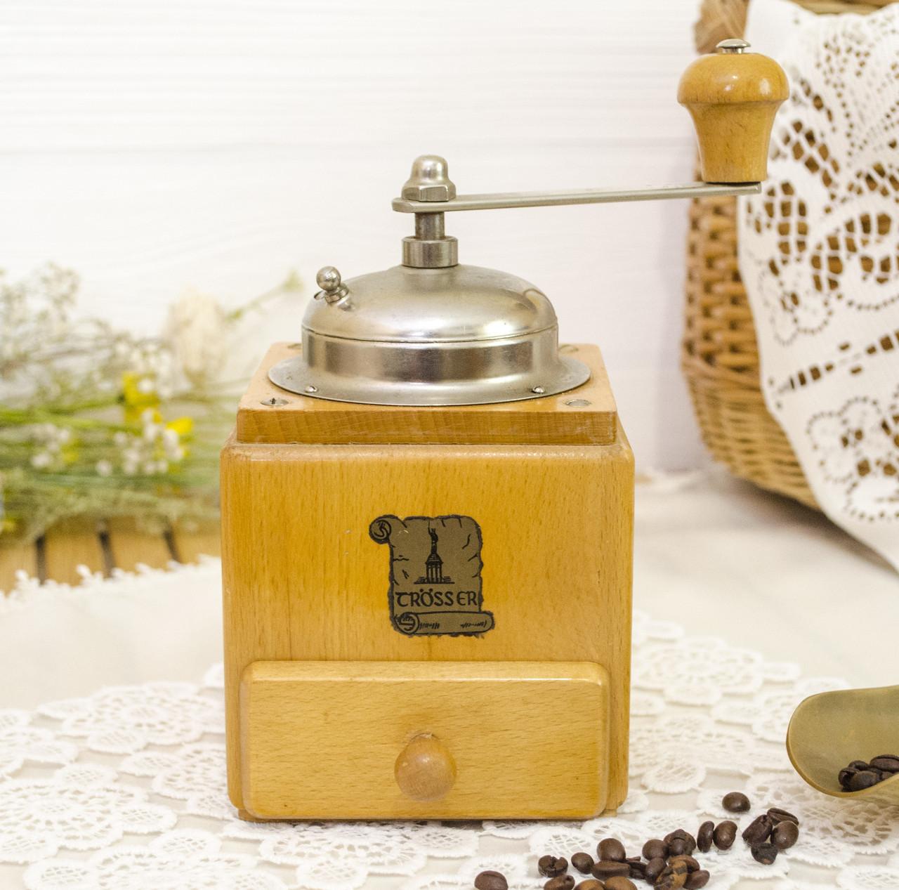 Коллекционная немецкая кофемолка, деревянный корпус, Германия, Grsser