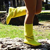 Сапожки женские яркие желтые.  Арт-0303, фото 1