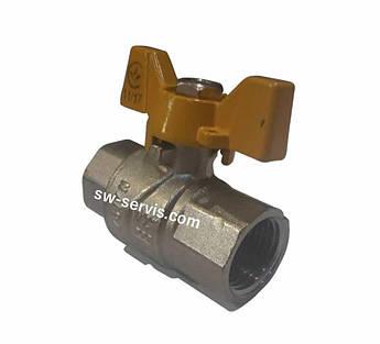 Кран газовий посилений 3/4 внутрішня різьба