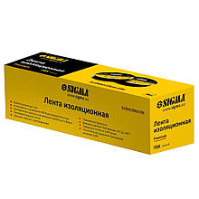 Изолента ПВХ (черная) 0.13мм×19мм×20м Premium SIGMA (8411611)