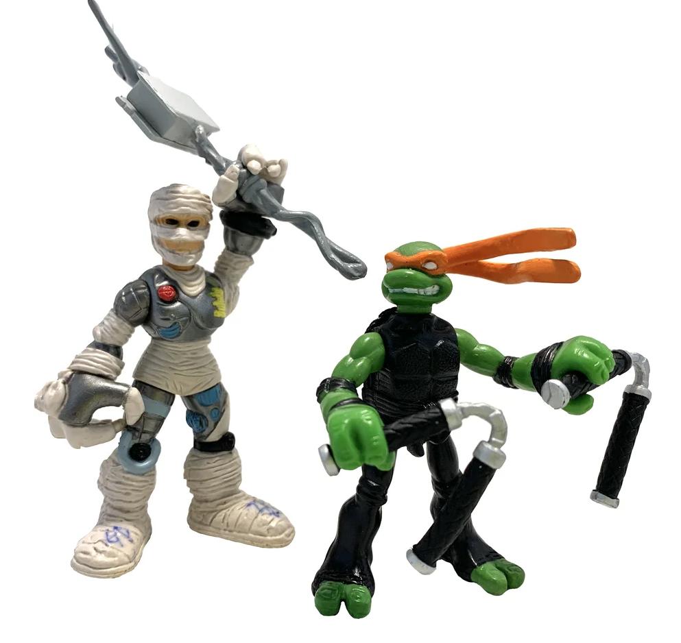 Набормини-фигурок Микеланджело и Крысиный король - Michelangelo and Rat King, 4Kids, Playmates