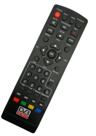 Пульт DVB-T2  TCL DVB-777 T3 T5 T7, Орбита HD-911, Beko