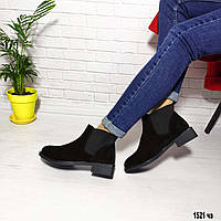 Ботинки на замшевые демисезонные челси, фото 1