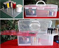 Коробка-органайзер с органайзером для катушек Bohin
