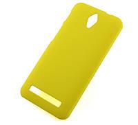 Пластиковый чехол для Asus Zenfone C ZC451CG жёлтый, фото 1