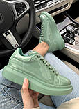 Стильні кросівки Alexander McQueen (Олександр Маквин) Mint Patent LUX QUALITY, фото 3