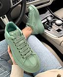 Стильні кросівки Alexander McQueen (Олександр Маквин) Mint Patent LUX QUALITY, фото 5