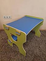 Парта- столик детские из фанеры Сердечко (дерево), конструкт.