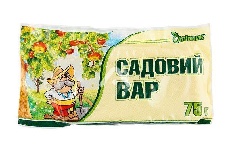 Садовый вар 75 г, Садiвник, Агрохимпак  для обработки деревьев