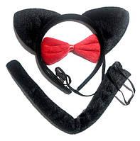 Ушки кошки в наборе чёрные