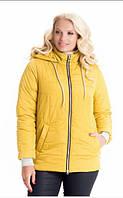 Женская куртка молодежная стильная демисезонная 44-58 р песок, красный, синий, голубой цвет