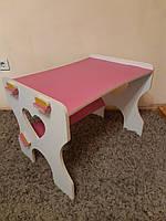 Парта- столик детские из фанеры Мишка (дерево), конструкт.