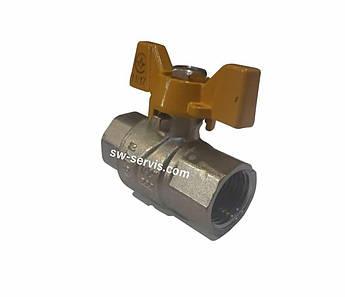 Кран газовий посилений 1 внутрішня різьба