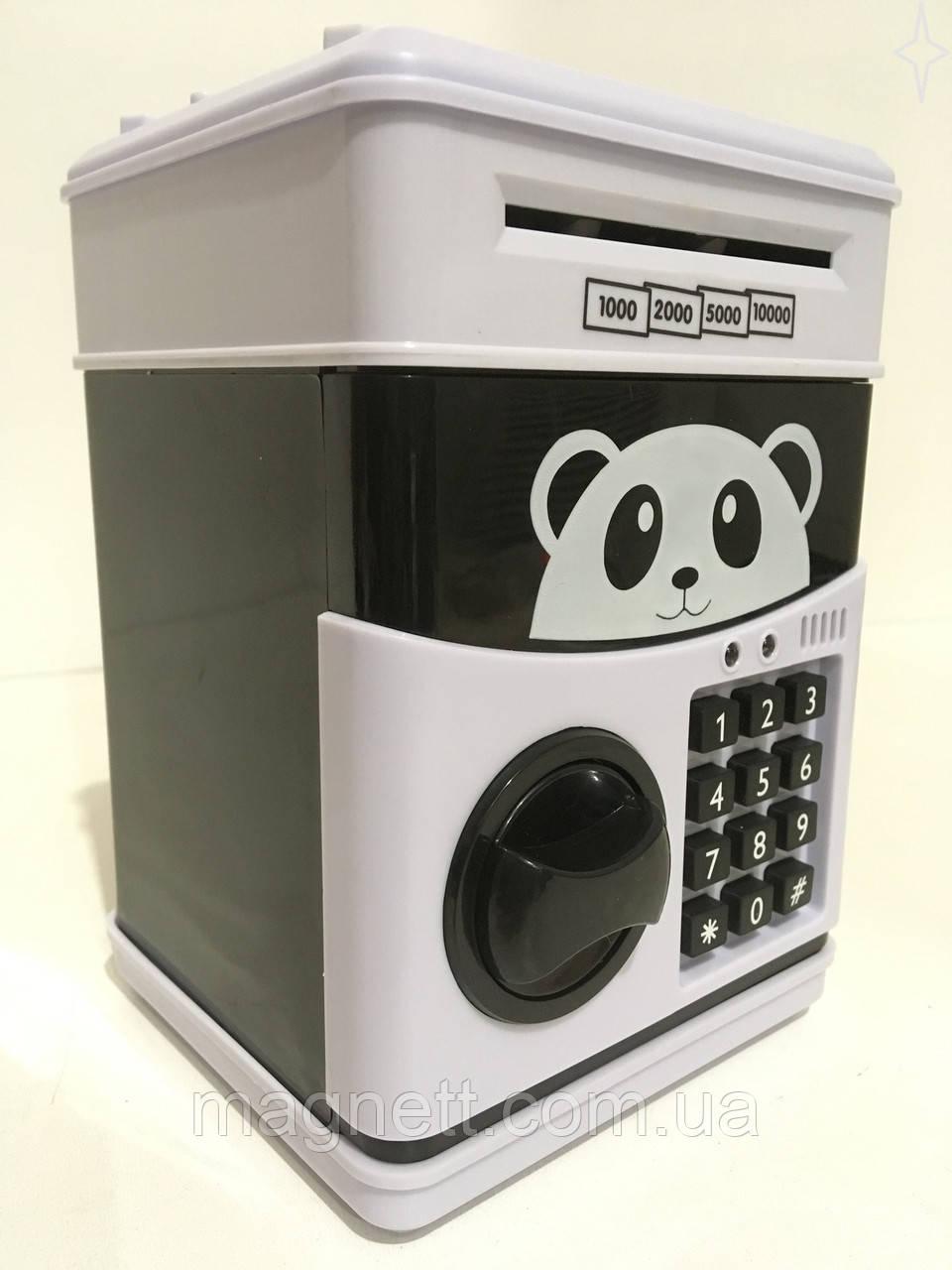 Детская Электронная Сейф-копилка банкомат Панда