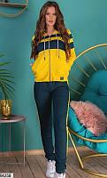 Спортивный костюм женский желто-синий 64258
