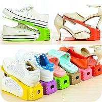 4 в 1 Двойные подставкидля хранения обуви, органайзер для обуви, стойка для обуви. Набор для обуви LY 4PCS! Топ продаж