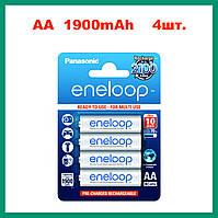 Panasonic Eneloop аккумулятор AA 1,2 V 1900 mAh (4 штуки) Ni-MH