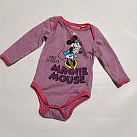 Боди для девочки розовый Minni Mouse Disney baby р.68см