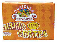 """Масло сливочное экстра """"Поліська сироварня"""" 82,5%, 200 г"""