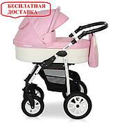 Детская универсальная коляска 2 в 1 Verdi Laser 02 Розовый