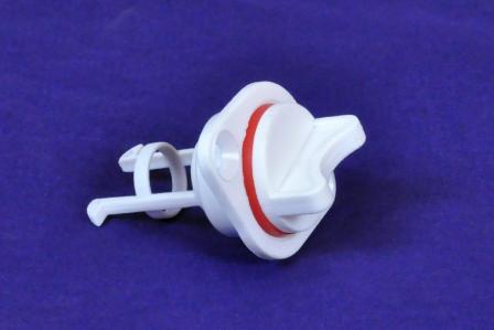 Пробка сливная нейлон, белая д 25мм, фото 2
