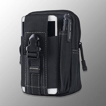 """🔥 Подсумок-Сумка """"Esdy - D-1"""" (черная) поясна сумка, аптечка, молле, molle, edc, чехол для телефона"""