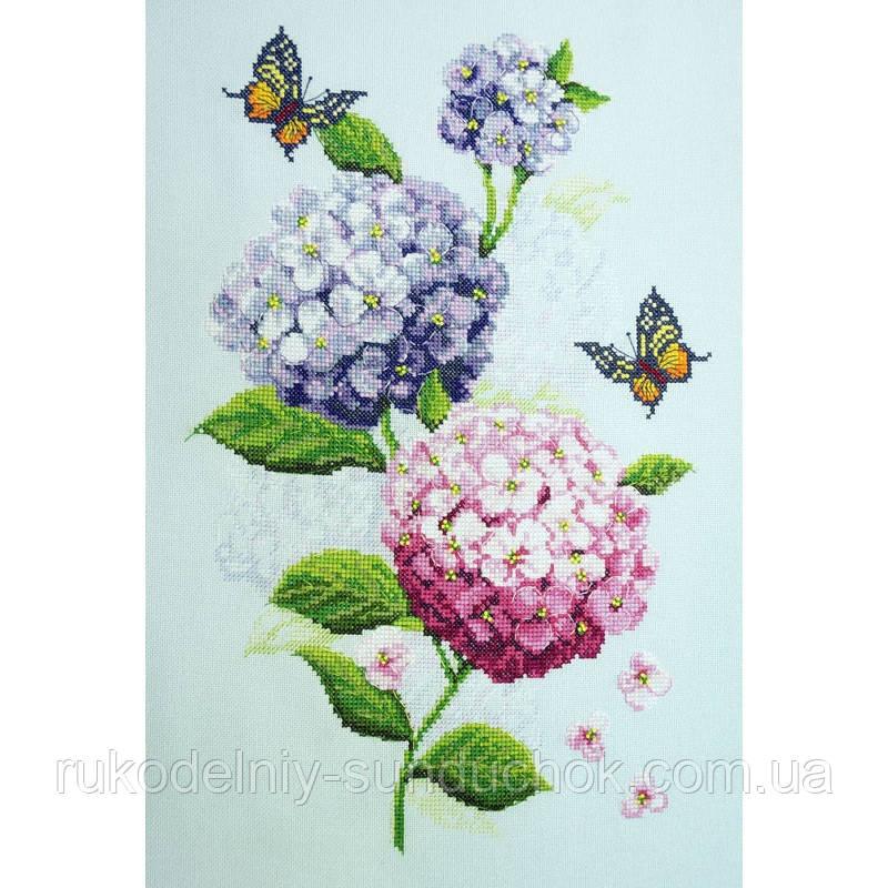 Набор для вышивания крестом ТМ Марья Искусница 04.004.13 Соцветия гортензий