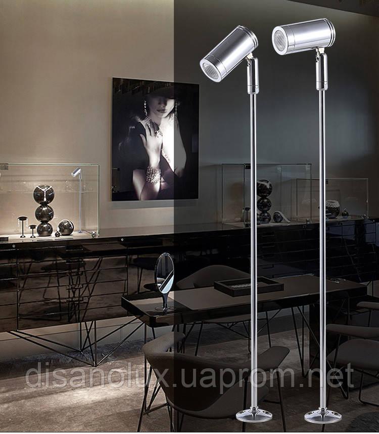 Світильник для підсвічування вітрин LED TLS -2W 220V 6500К срібло 25cm