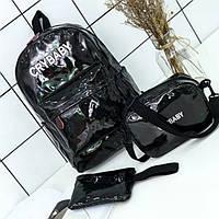 Рюкзак +сумка +кошелёк, женский набор 3 в 1
