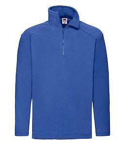 Мужской флисовый свитер с воротником на замке S, 51 Ярко-Синий