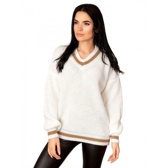 Легкий свитер крупная вязка 42-46 размер