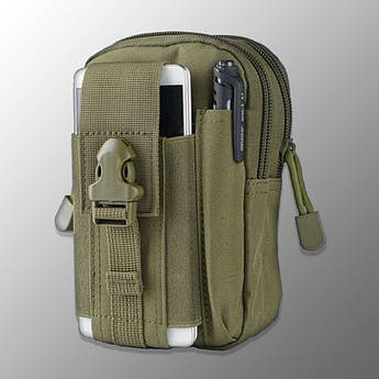 "🔥 Подсумок-Сумка ""Esdy - D-1"" (олива) поясна сумка, аптечка, молле, molle, edc, чехол для телефона"