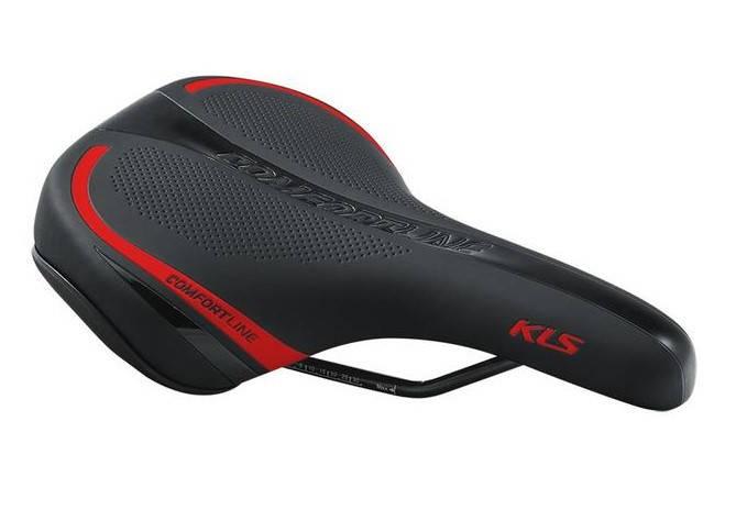 Сідло велосипедне KLS Comfortline 17 червоний, фото 2