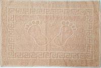 Полотенце махровое для ног бежевое (Турция)