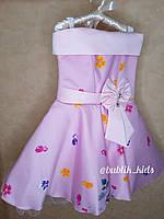 Розовое платье на девочку,нарядное платье