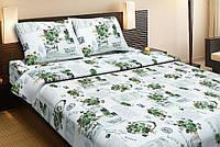 Постельное белье Lotus Ranforce Love letter зеленый двуспального размера