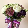 Букет-дублер с белой и фиолетовой лентой (арт. BD-015)