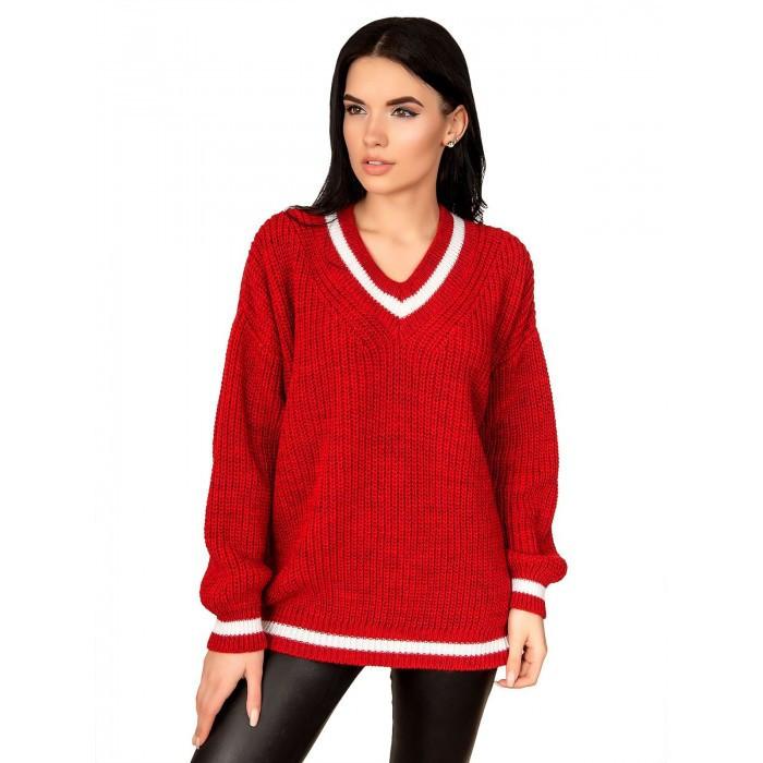 Легкий светр велика в'язка 42-46 розмір