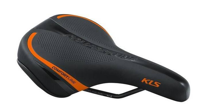 Сідло велосипедне KLS Comfortline 17 помаранчевий, фото 2