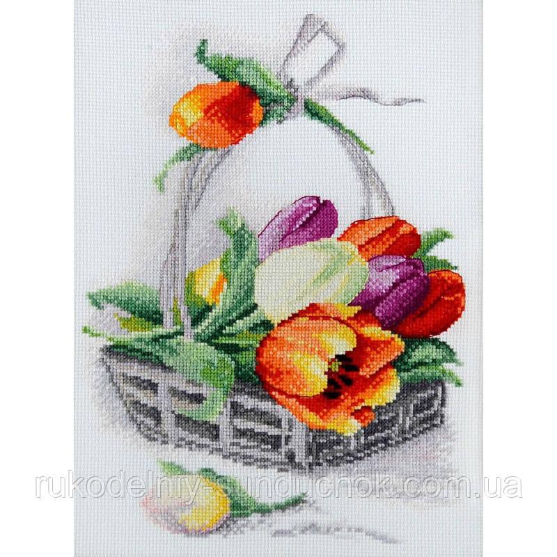 Набір для вишивання хрестом ТМ Мар'я Майстриня 06.002.03 Весняні тюльпани