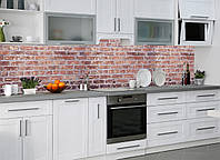 "Наклейки кухонный фартук  Zatarga  ""Красный кирпич  02 "" 600х2500 мм красный 600 х 2500мм"