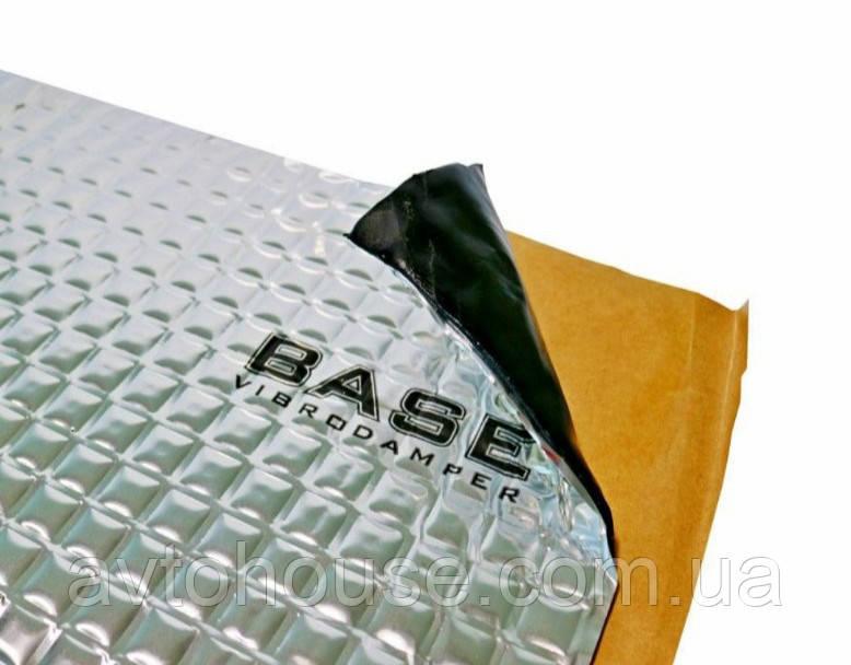Шумоизоляция, виброизоляция авто вибропоглощающие листы BASE 2,0 (470х750) виброшумоизоляция обесшумка шумка