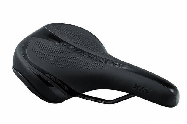 Сідло велосипедне KLS Crossline 17 чорний, фото 2