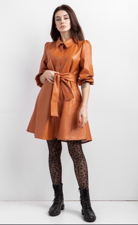 Платье -рубашка эко-кожа женское