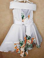 Платье на девочку с рисунком,красивое платье на девочку