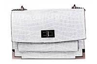 Итальянская женская сумка из натуральной кожи. Цвет: Серый, фото 1
