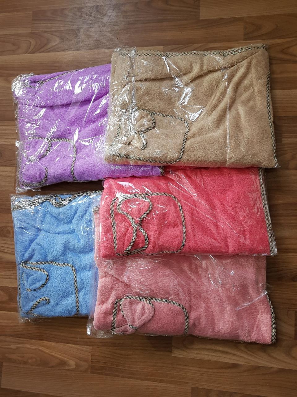 Женское микрофибровое полотенце - халат