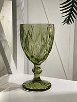Бокал для вина из цветного хрусталя (цвет в ассортименте)
