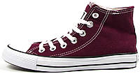 Мужские высокие кеды Converse Chuck Taylor All Star High Bordo Конверс Чак Тейлор Олл Старс бордовые